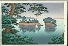 Tsuchiya Koitsu  Woodblock Print - Spring Rain at Matsushima SOLD