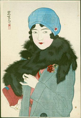 Ito Shinsui Japanese Woodblock Print - Early Spring - Bijin