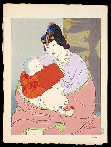 Paul Jacoulet Japanese Woodblock Print - The Treasure, Korea SOLD