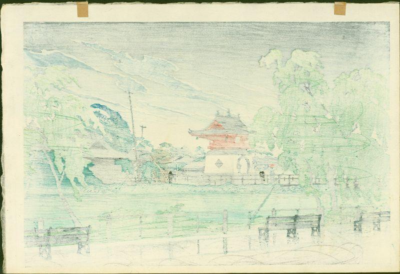 Kawase Hasui Japanese Woodblock Print - Shinobazu 1929 SOLD