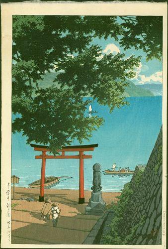 Kawase Hasui Woodblock Print - Chuzenji Utagahama - First Ed. SOLD