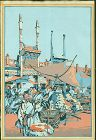 Cyrus Baldridge Japanese Woodblock Print - Peking Market 1925