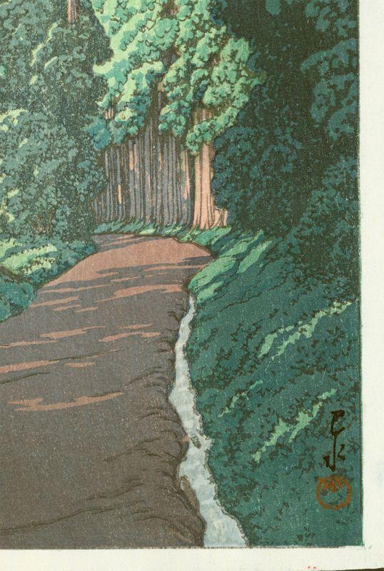 Hasui Kawase Japanese Woodblock Print - The Nikko Highway