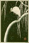 Ohara Koson (Shoson) Woodblock Print - Egret on Snowy Branch SOLD