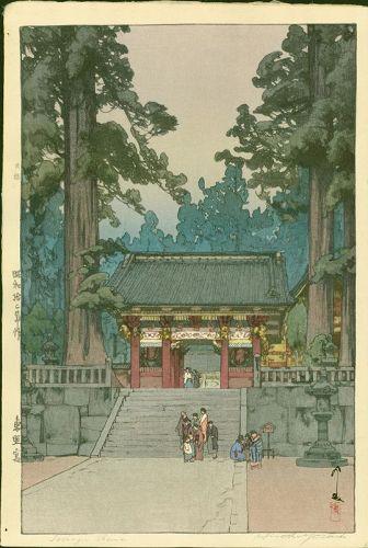 Hiroshi Yoshida Japanese Woodblock Print - Toshogu Shrine - First Ed.