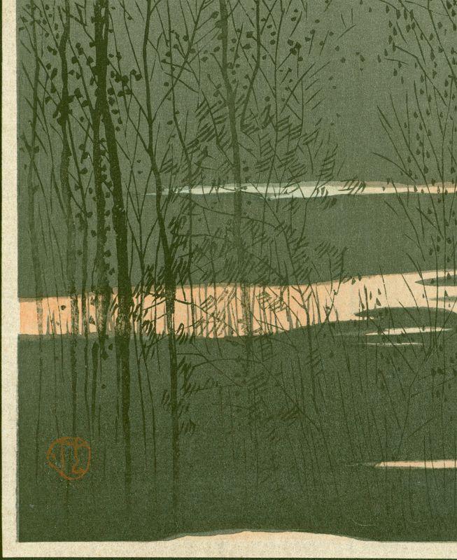 Uehara Konen Japanese Woodblock Print - Hirosaki Castle SOLD