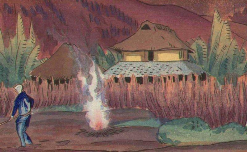 Oda Hironobu Woodblock Print - Mountain - 1930s SOLD
