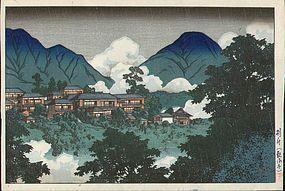 Kawase Hasui Japanese Woodblock - Beppu - 1927 SOLD