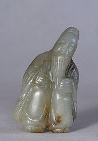 Chinese Nephrite Shou Lao Pendant