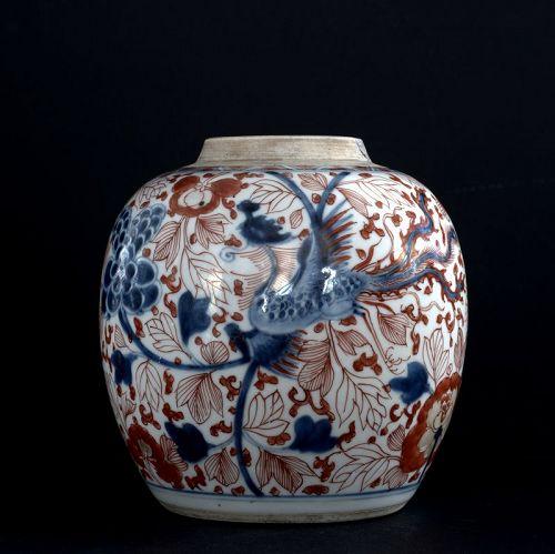 Phoenixes and Flowers Jar, Kangxi Period