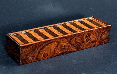 Small Hardwood Veneered Box