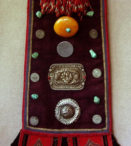 Childs Antique Tibetan robe festival back accessory