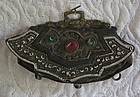 Antique Tibetan festival decorative leather purse