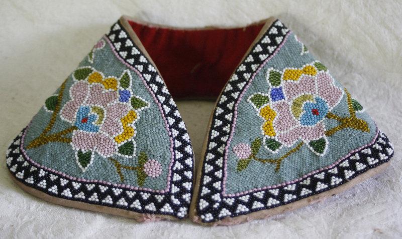 Antique Chinese Beaded headband