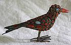 Nepal small bird enameled sculpture