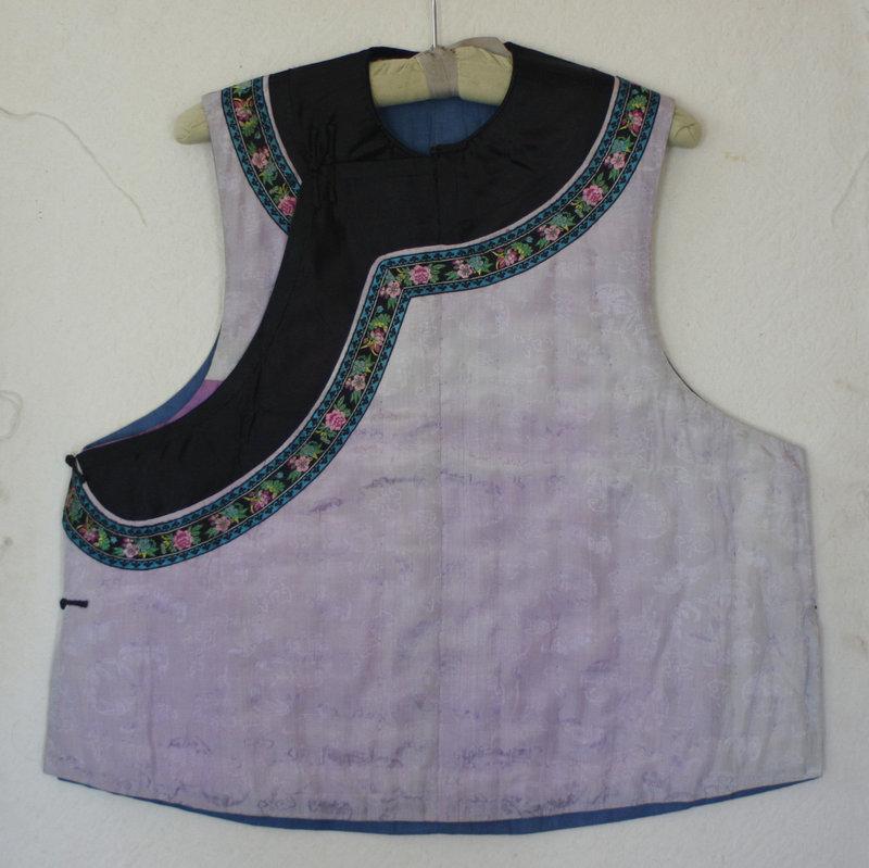 Qing Dynasty woman's informal padded silk vest