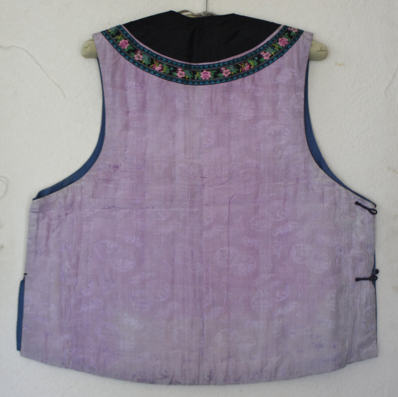 Qing Dynasty woman's informal padded silk vest