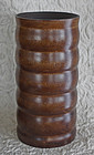 Very Large Chinese Burl wood Brush Pot