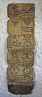 Antique Tibetan Buddhist monks script amulet