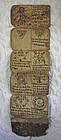 Antique Tibetan Buddhist monks script amulet