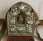 Antique Tibetan Buddhist Gau Silver Repousse