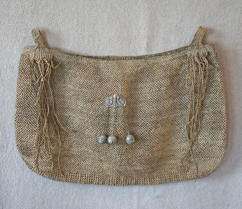 Antique Chinese ethnic minority Yi rope bag