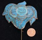 Antique Chinese Large Kingfisher Hair Ornament