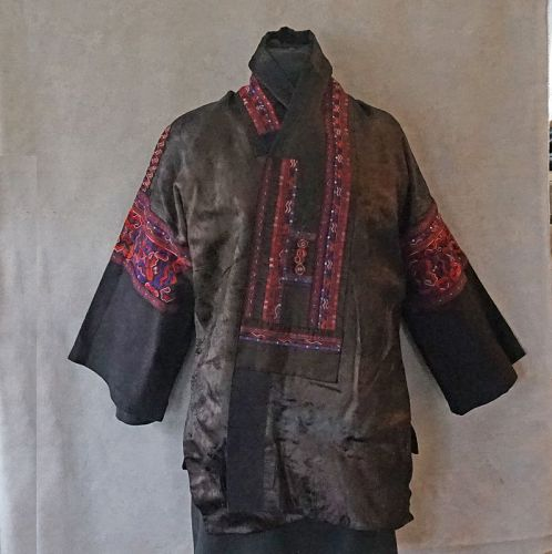 Antique Chinese Miao Ethnic Minority Woman's embroidered Festival Jack