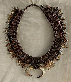 Oceanic New Guinea Papua Boar Tusk & Dog Teeth Necklace