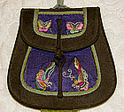 Antique Chinese Silk Embroidered Small Purse Qing Dy