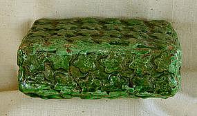 Antique Chinese doctors examination glazed wrist pillow