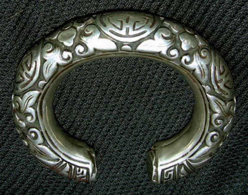Antique Tibetan Silver Bracelet