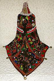 Pashtun Woman Headdress beaded embroidered India
