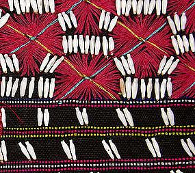 Thailand Karen Hilltribe embroidered shell blouse