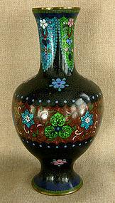 Antique Japanese goldstone Gin-bari cloisonne vase