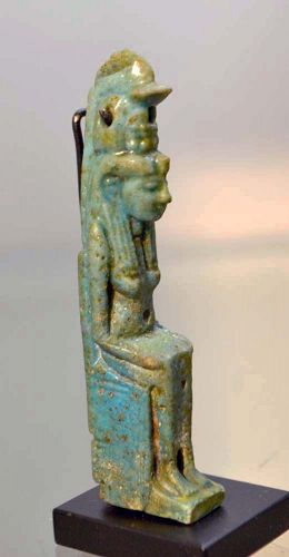AN ANCIENT EGYPTIAN HATMEHYT AMULET