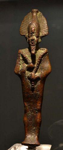 AN ANCIENT EGYPTIAN BRONZE OSIRIS