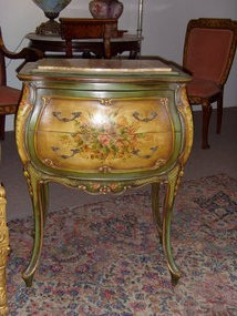 Handpainted Marble Top Bombay Chest