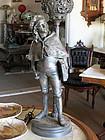 Figural Spelter Schoolboy Lamp
