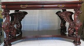 R.J. Horner Partner's Desk with Griffins