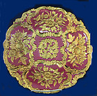 Pink & Gold Meissen Charger