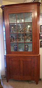 Early 19th Century Cherry Corner Cabinet