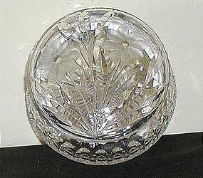 Cut Glass Powder Jar