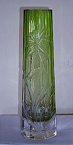 Moser Engraved Vase