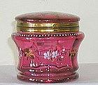 Cranberry Enamel Hinged Box