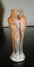 Daum Nancy Miniature Cameo Vase