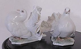 Pair Rosenthal Doves