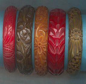 Five Bakelite Bracelets