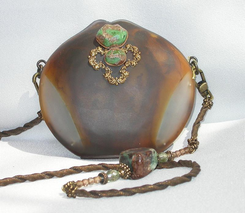 MAYA PURSE WITH TURQUOISE AND PEARLS