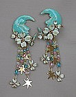 LUNCH AT THE RITZ MOON EARRINGS